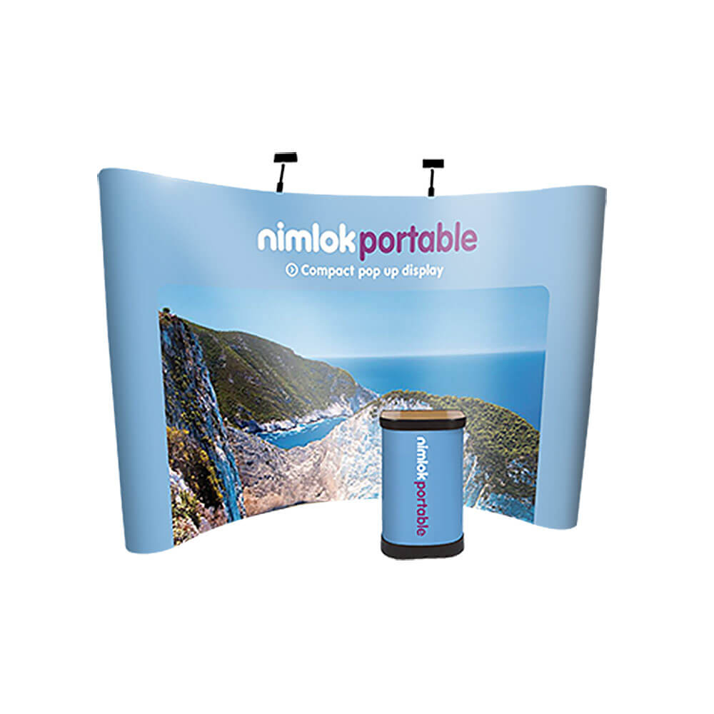 3x4 Curved Pop-Up Stand