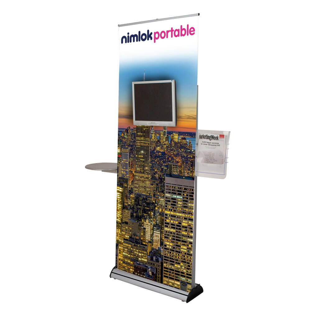 Banner Stand With Screen Mount