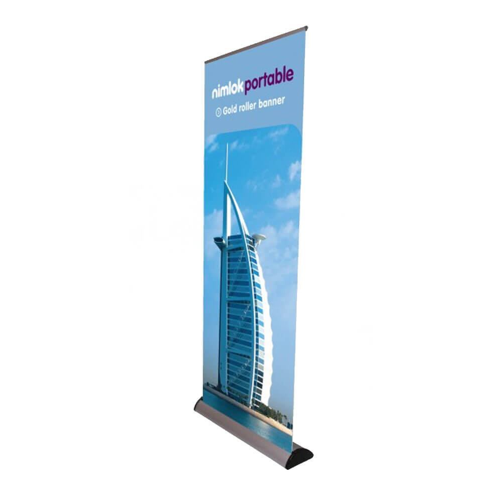 Gold Roller Banner Stand