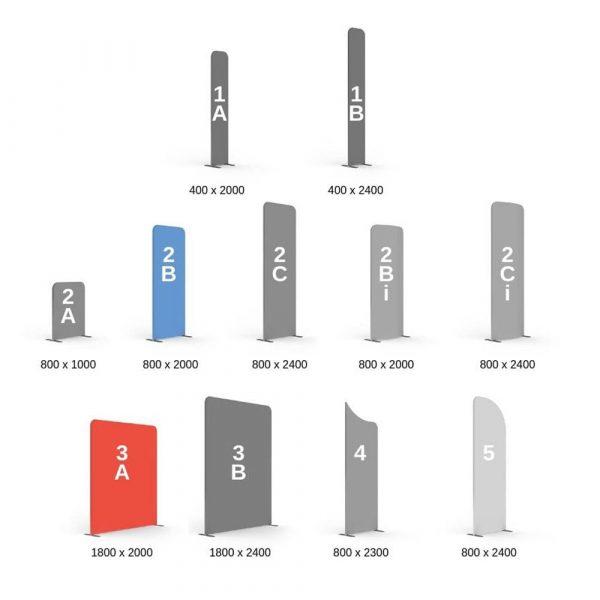Modulate 3x2m L Shape Fabric Stand Options