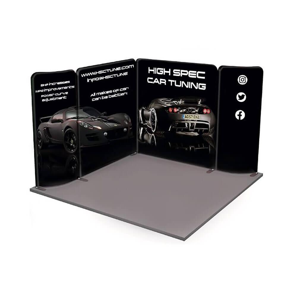 Modulate™ 3x3m L Shape Fabric Stand