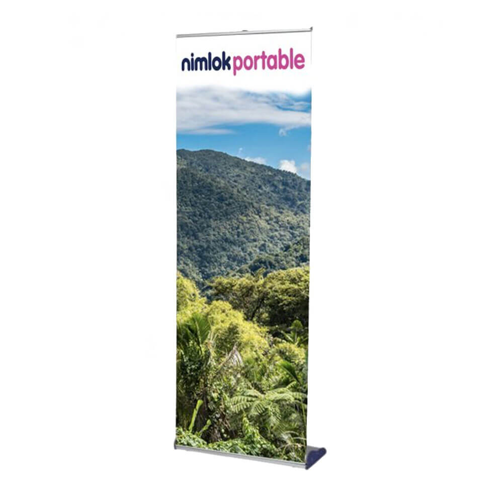Silver recyclable roller banner stand
