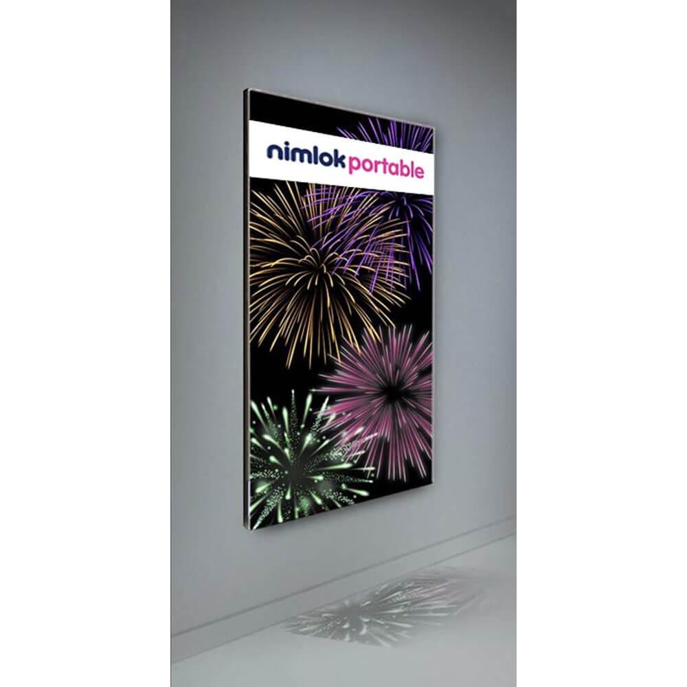 Wall Mounted Backlit Fabric Display