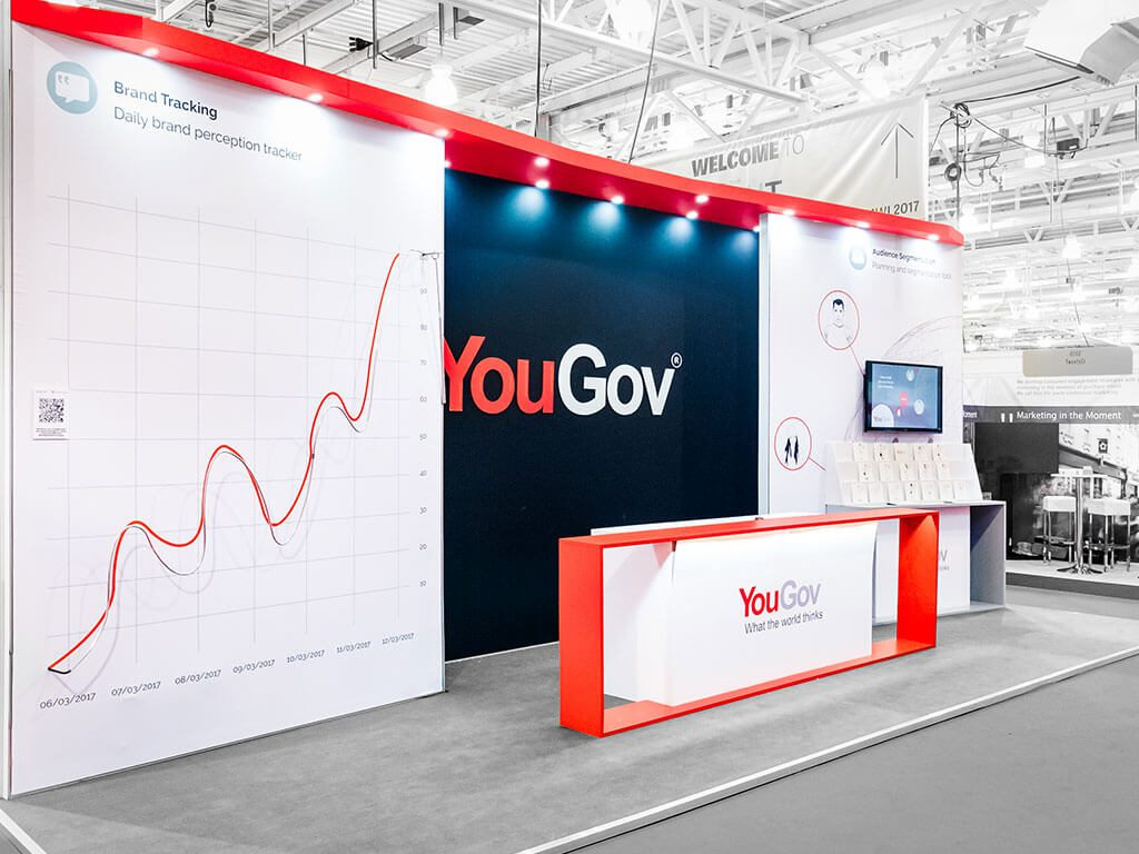 YouGov Exhibition Stand complete view