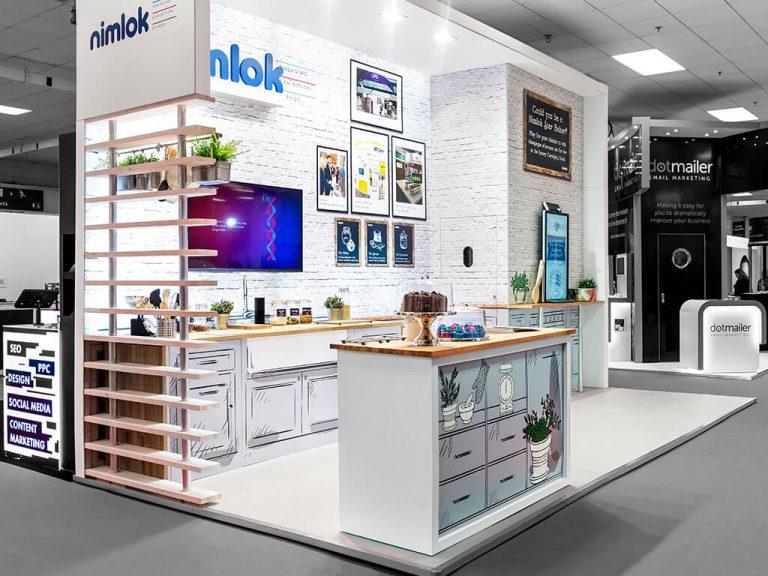 Nimlok Exhibition Stand side view