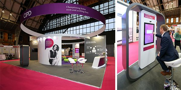 CIPD exhibition stand and selfie booth