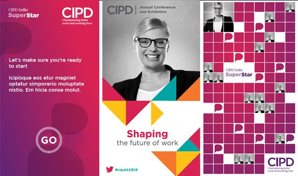 CIPD selfie booth screens