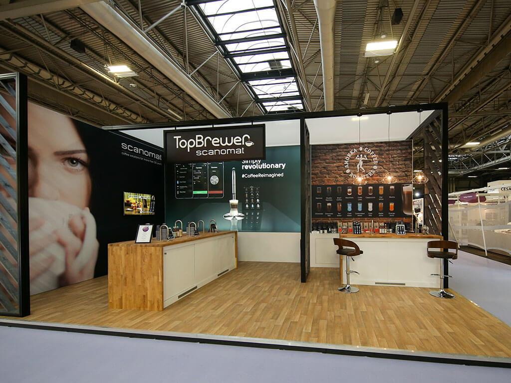 Exhibition Stand Coffee : Hospitality on an exhibition stand nimlok uk