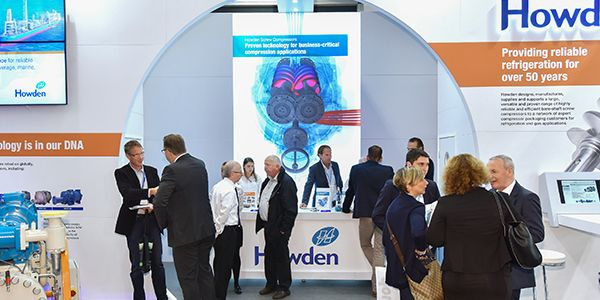 Vivid lightbox graphic on Howden exhibition stand