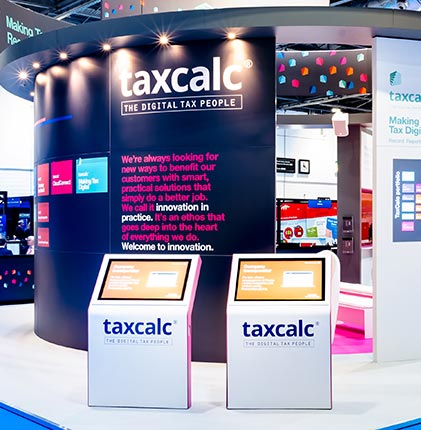 Taxcalc bespoke exhibition stand
