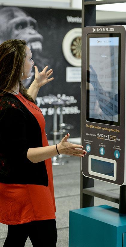 BNY Mellon exhibition stand engagement vending machine