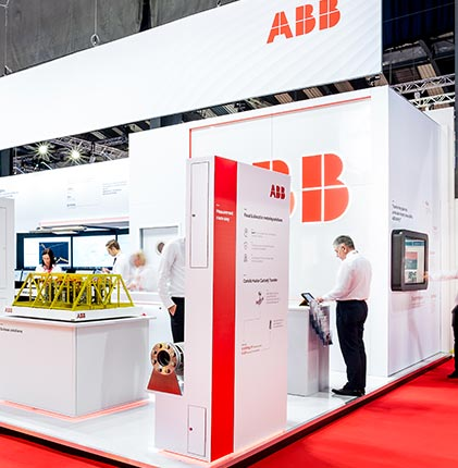 ABB bespoke exhibition stand