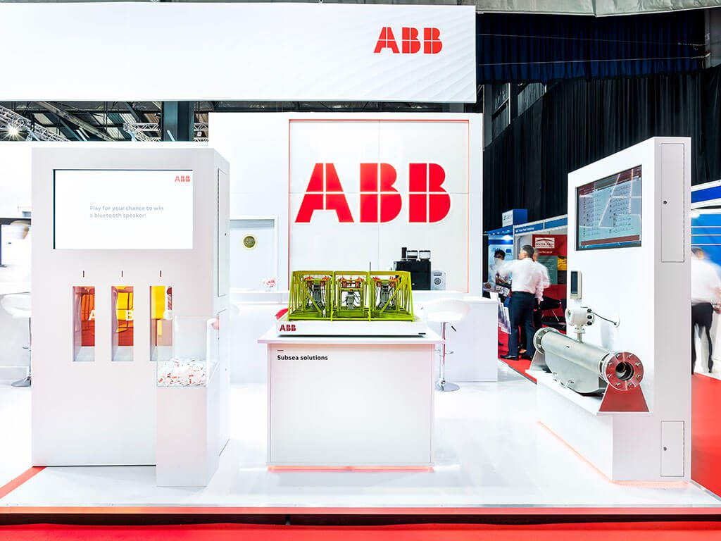 ABB Bespoke Hire Exhibition Stand with engagement tools