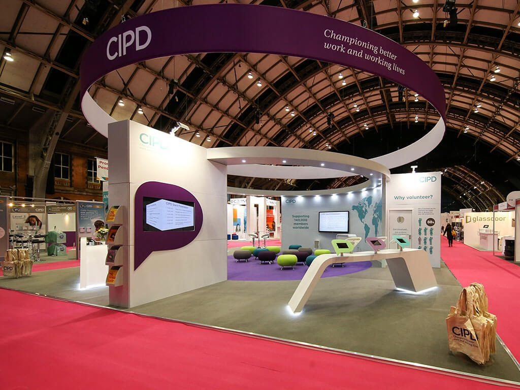 CIPD Bespoke Hire Exhibition Stand pre show