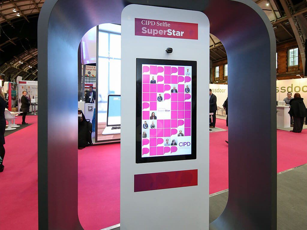 CIPD Bespoke Hire Exhibition Stand selfie engagement tool