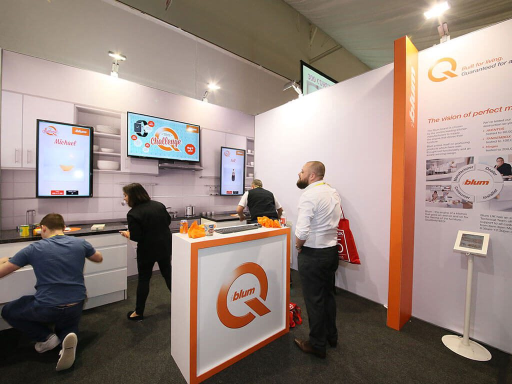 Blum Engaging Exhibition Stand | Nimlok UK