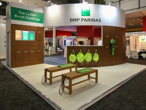 BNP Paribas Exhibition Stand front side