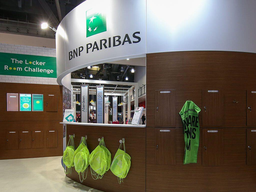 BNP Paribas Exhibition Stand close up