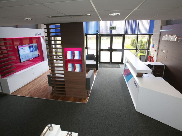 Nimlok UK reception area interior
