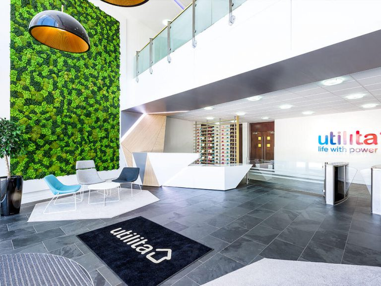 Utilita's new reception and waiting area interior