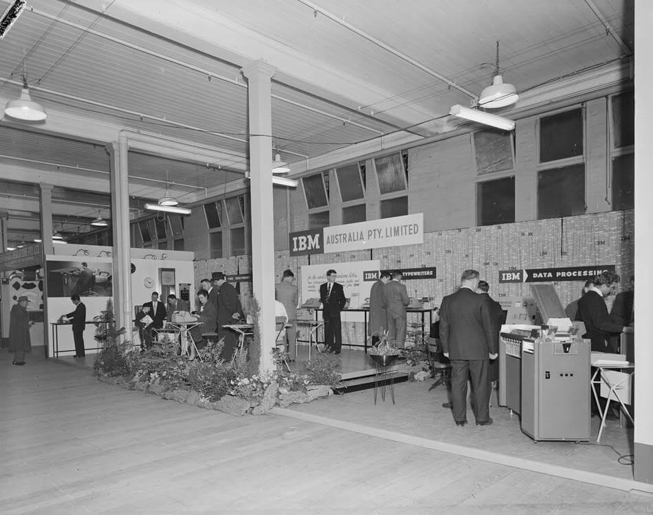 1960s IBM Australia exhibition stand