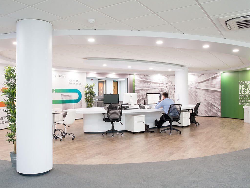 Americk Packaging Designer Area revamped interior