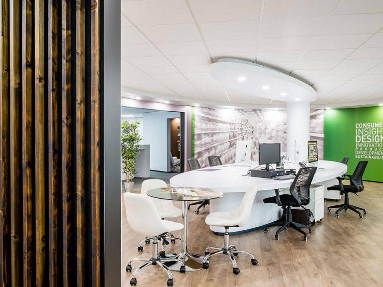 Americk Packaging Designer Area revamped interior - side view