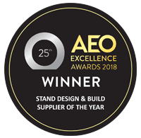 Nimlok UK 2018 AEO Stand design & build supplier of the year
