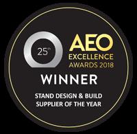 Nimlok UK 2018 AEO Stand design & build supplier of the year