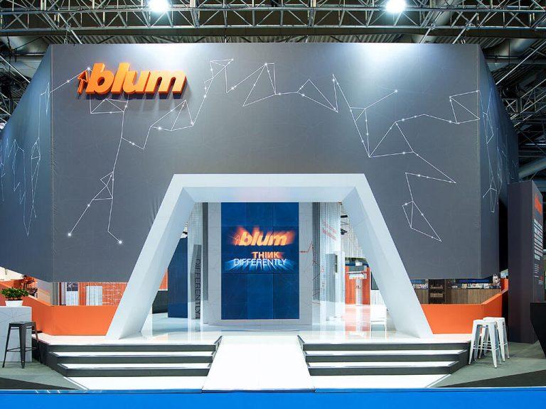 Blum Exhibition Stand | Nimlok UK