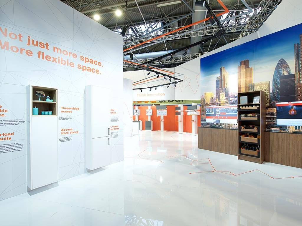 Blum at KBB Exhibition Stand inside view