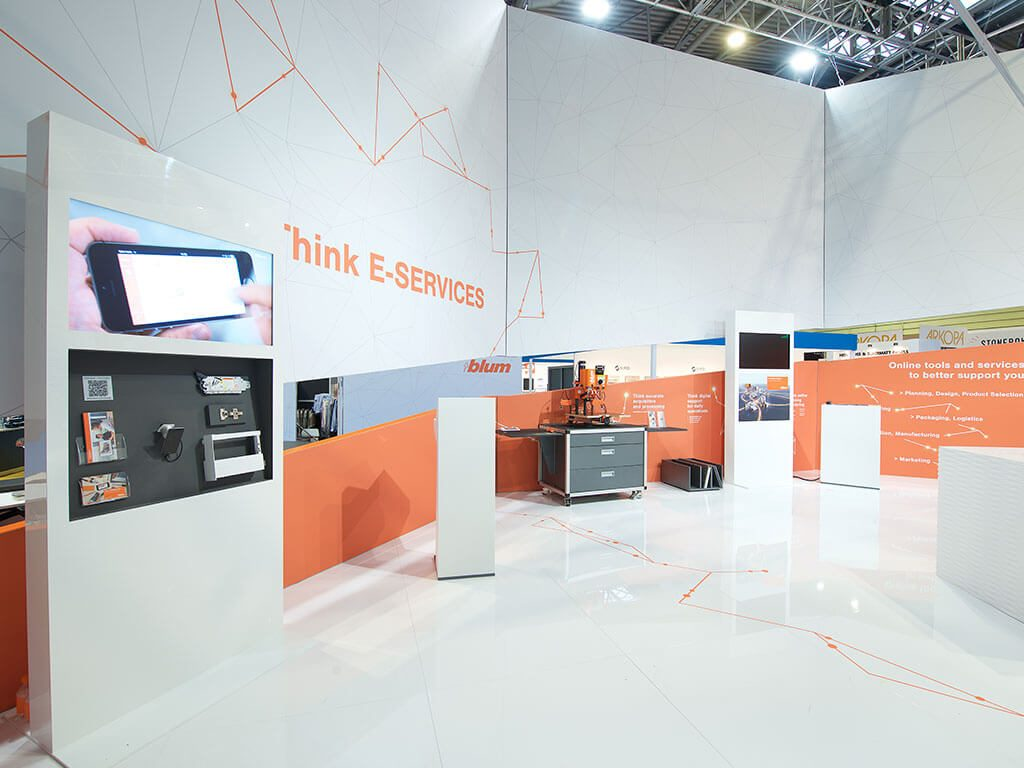 Exhibition Stand Services : Blum at kbb engaging exhibition stand nimlok uk
