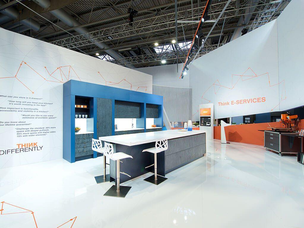Blum at KBB Exhibition Stand by Nimlok