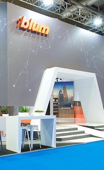 Blum's bespoke hire exhibition stand