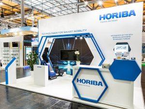Horiba bespoke exhibition stand