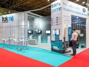 Trakm8 bespoke exhibition stand