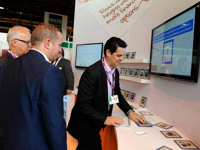 Aldermore Stand Engagement through RFID and media screen