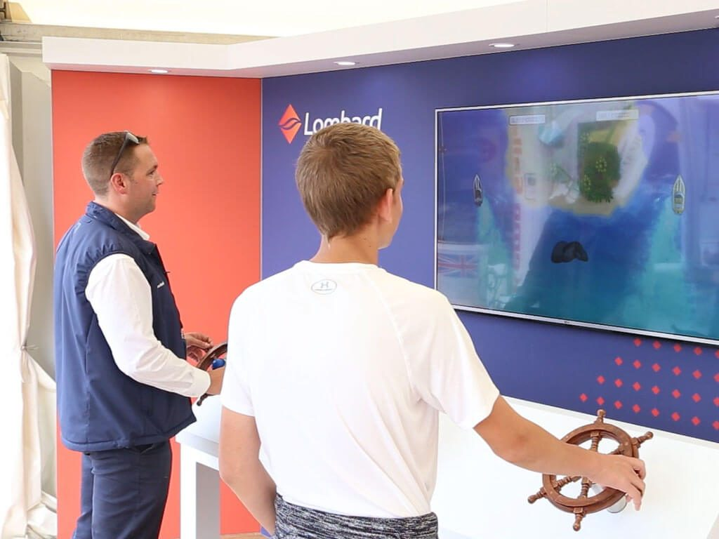 Lombard Marine Finance visitor engagement boat race game