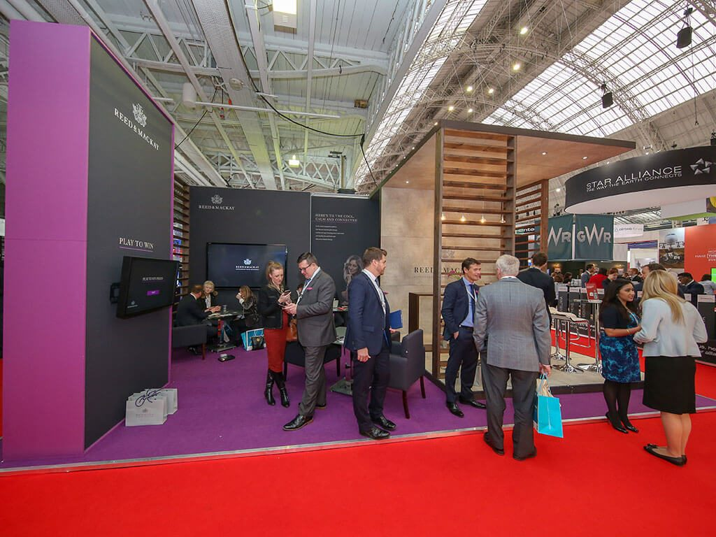 Reed & Mackay Custom Exhibition Stand at Business Travel Show