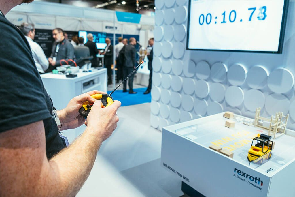 Rexroth gamification on stand