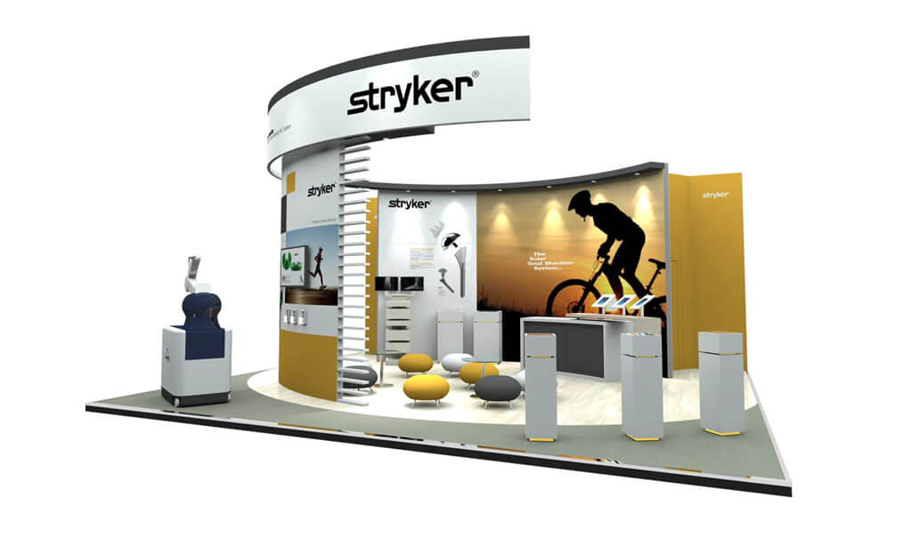 Bespoke Hire exhibition stand for Stryker