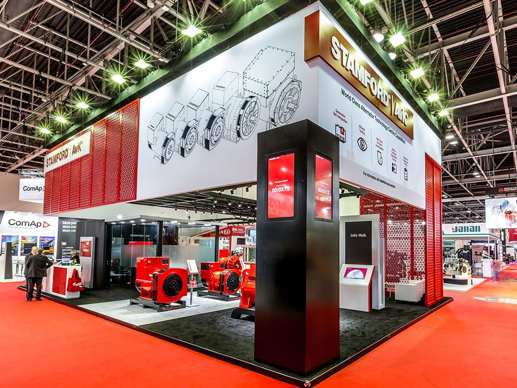 Stamford AVK featuring in Dubai their large bespoke exhibition stand