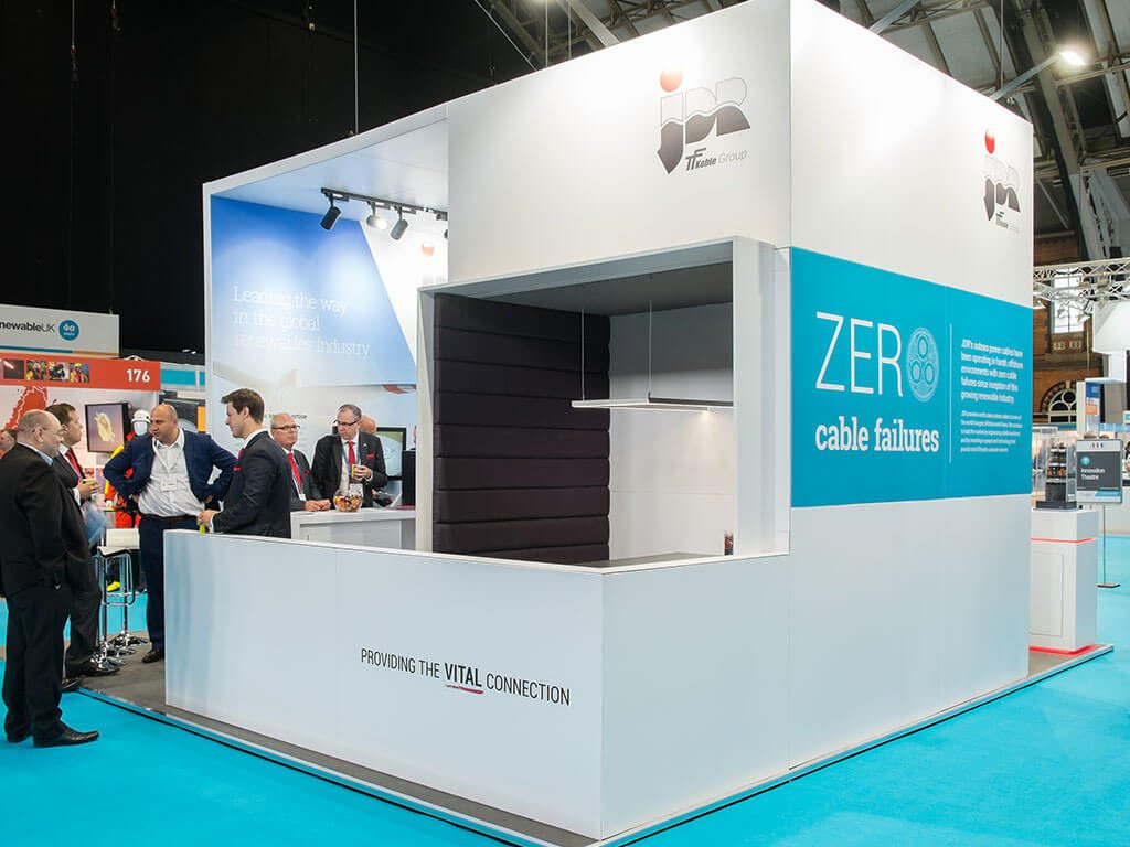 JDR Cables Bespoke Hire Exhibition Stand