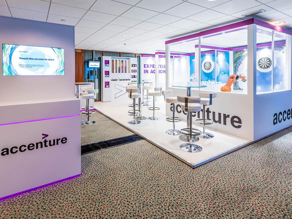 Accenture bespoke exhibition stand