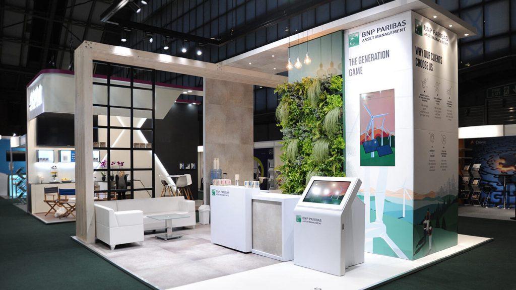 BNP Paribas 2019 PLSA Bespoke Exhibition Stand