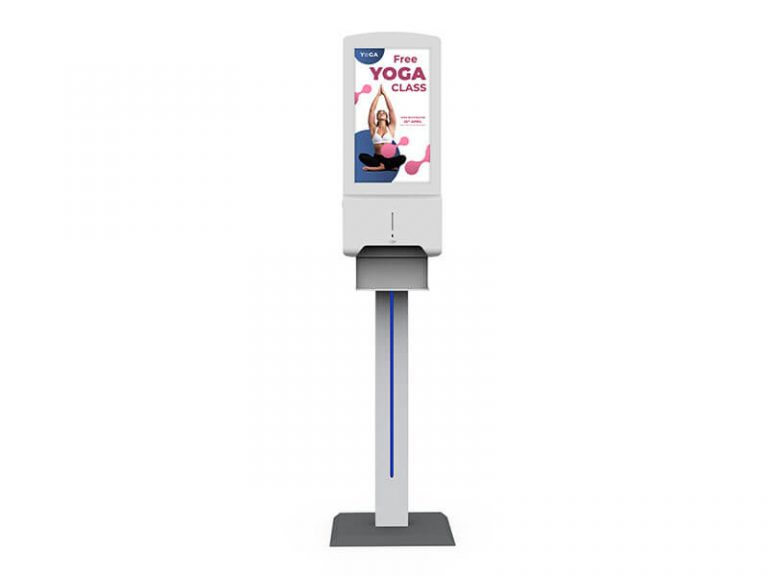 On Stand Contactless Hand Sanitser With Advertising Display